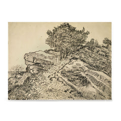 Ezposterprints - The Rock Of Montmajour With Pine Trees | Van Gogh Art Reproduction