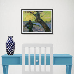 Ezposterprints - The Sower | Van Gogh Art Reproduction - 16x12 ambiance display photo sample