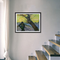 Ezposterprints - The Sower | Van Gogh Art Reproduction - 24x18 ambiance display photo sample