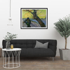 Ezposterprints - The Sower | Van Gogh Art Reproduction - 32x24 ambiance display photo sample