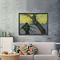 Ezposterprints - The Sower | Van Gogh Art Reproduction - 48x36 ambiance display photo sample