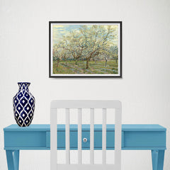 Ezposterprints - The White Orchard | Van Gogh Art Reproduction - 16x12 ambiance display photo sample