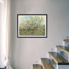Ezposterprints - The White Orchard | Van Gogh Art Reproduction - 24x18 ambiance display photo sample