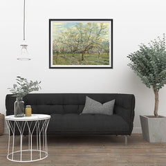 Ezposterprints - The White Orchard | Van Gogh Art Reproduction - 32x24 ambiance display photo sample