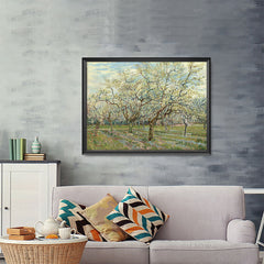 Ezposterprints - The White Orchard | Van Gogh Art Reproduction - 48x36 ambiance display photo sample