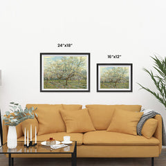 Ezposterprints - The White Orchard | Van Gogh Art Reproduction ambiance display photo sample