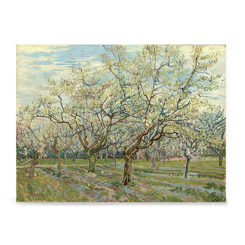 Ezposterprints - The White Orchard | Van Gogh Art Reproduction