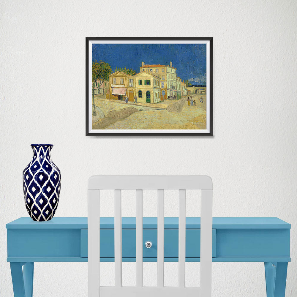 Ezposterprints - The Yellow House | Van Gogh Art Reproduction - 16x12 ambiance display photo sample