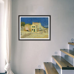 Ezposterprints - The Yellow House | Van Gogh Art Reproduction - 24x18 ambiance display photo sample