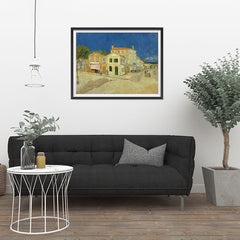 Ezposterprints - The Yellow House | Van Gogh Art Reproduction - 32x24 ambiance display photo sample