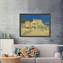 Ezposterprints - The Yellow House | Van Gogh Art Reproduction - 48x36 ambiance display photo sample