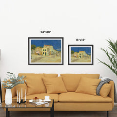 Ezposterprints - The Yellow House | Van Gogh Art Reproduction ambiance display photo sample