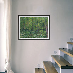 Ezposterprints - Trees And Undergrowth | Van Gogh Art Reproduction - 24x18 ambiance display photo sample