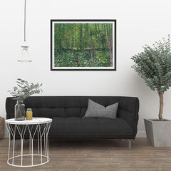 Ezposterprints - Trees And Undergrowth | Van Gogh Art Reproduction - 32x24 ambiance display photo sample