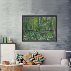 Ezposterprints - Trees And Undergrowth | Van Gogh Art Reproduction - 48x36 ambiance display photo sample