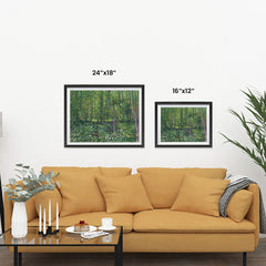 Ezposterprints - Trees And Undergrowth | Van Gogh Art Reproduction ambiance display photo sample