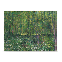 Ezposterprints - Trees And Undergrowth | Van Gogh Art Reproduction