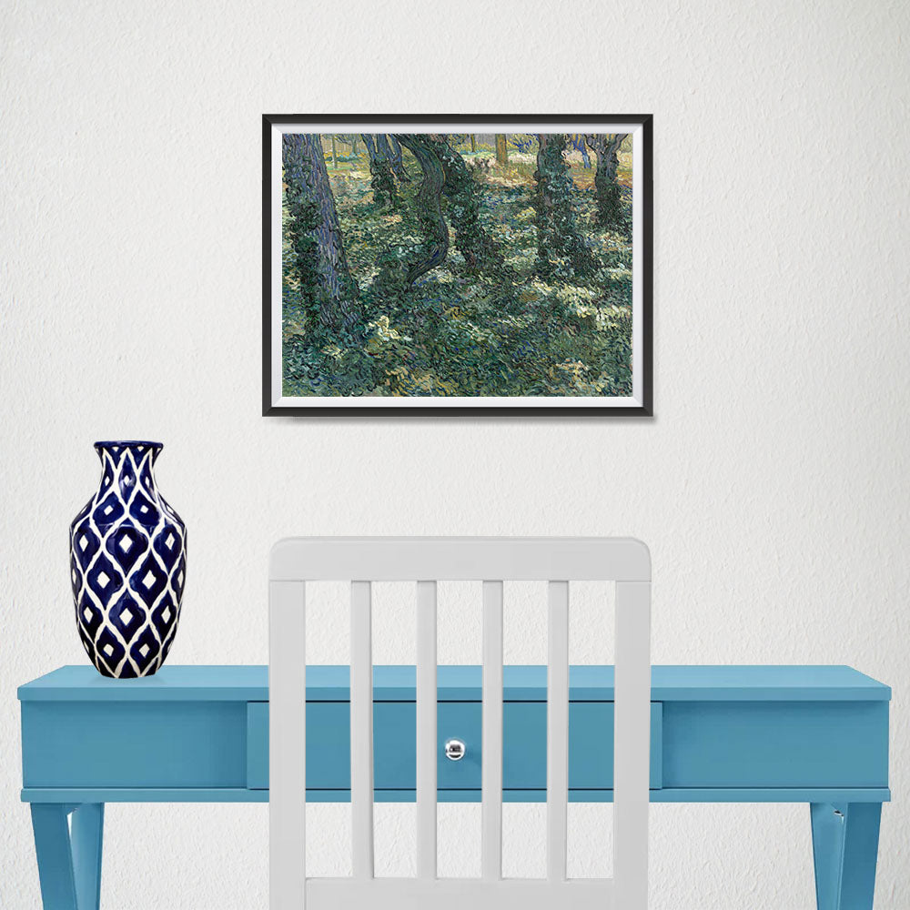 Ezposterprints - Undergrowth | Van Gogh Art Reproduction - 16x12 ambiance display photo sample