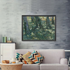 Ezposterprints - Undergrowth | Van Gogh Art Reproduction - 48x36 ambiance display photo sample