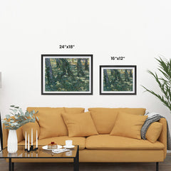 Ezposterprints - Undergrowth | Van Gogh Art Reproduction ambiance display photo sample