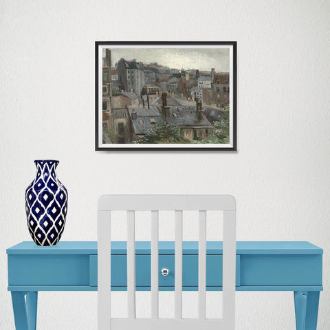 Ezposterprints - View From Vincents Studio | Van Gogh Art Reproduction - 16x12 ambiance display photo sample