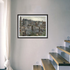 Ezposterprints - View From Vincents Studio | Van Gogh Art Reproduction - 24x18 ambiance display photo sample