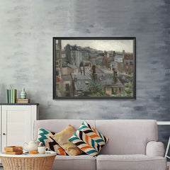 Ezposterprints - View From Vincents Studio | Van Gogh Art Reproduction - 48x36 ambiance display photo sample