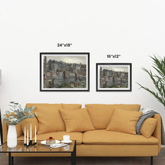 Ezposterprints - View From Vincents Studio | Van Gogh Art Reproduction ambiance display photo sample