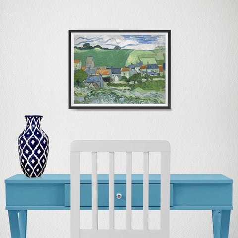 Ezposterprints - View Of Auvers | Van Gogh Art Reproduction - 16x12 ambiance display photo sample
