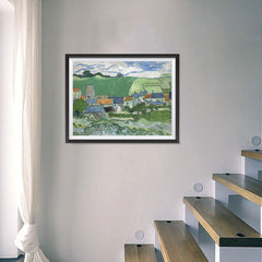 Ezposterprints - View Of Auvers | Van Gogh Art Reproduction - 24x18 ambiance display photo sample