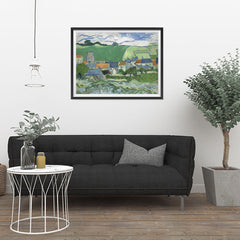 Ezposterprints - View Of Auvers | Van Gogh Art Reproduction - 32x24 ambiance display photo sample