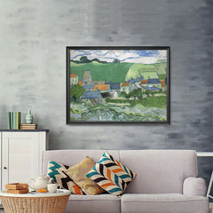 Ezposterprints - View Of Auvers | Van Gogh Art Reproduction - 48x36 ambiance display photo sample