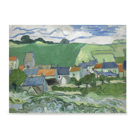 Ezposterprints - View Of Auvers | Van Gogh Art Reproduction