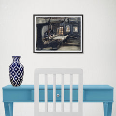 Ezposterprints - Weaver | Van Gogh Art Reproduction - 16x12 ambiance display photo sample