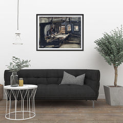 Ezposterprints - Weaver | Van Gogh Art Reproduction - 32x24 ambiance display photo sample