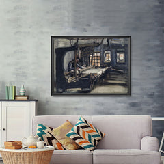 Ezposterprints - Weaver | Van Gogh Art Reproduction - 48x36 ambiance display photo sample