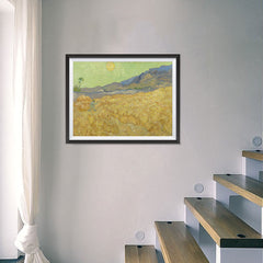 Ezposterprints - Wheatfield With A Reaper | Van Gogh Art Reproduction - 24x18 ambiance display photo sample