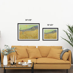 Ezposterprints - Wheatfield With A Reaper | Van Gogh Art Reproduction ambiance display photo sample
