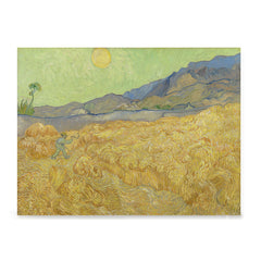 Ezposterprints - Wheatfield With A Reaper | Van Gogh Art Reproduction