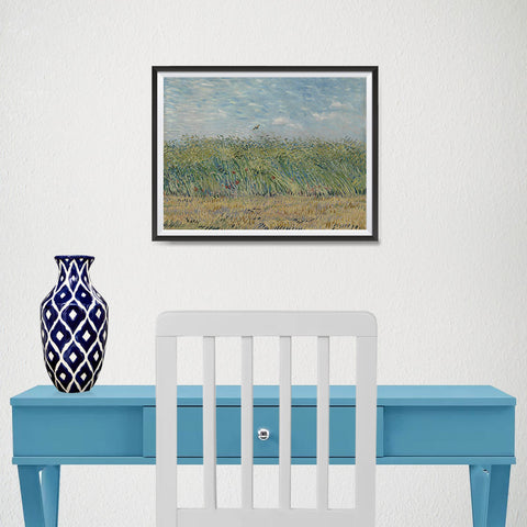 Ezposterprints - Wheatfield With Partridge | Van Gogh Art Reproduction - 16x12 ambiance display photo sample