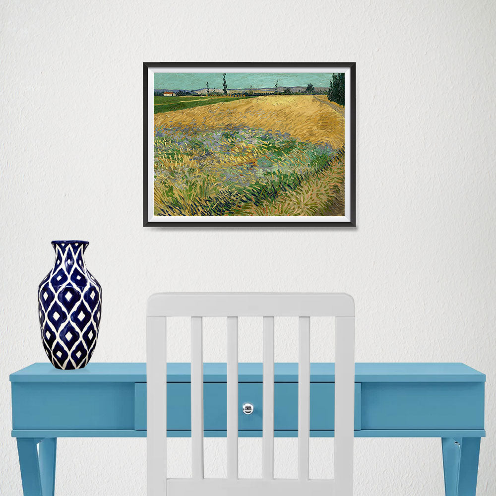 Ezposterprints - Wheatfield | Van Gogh Art Reproduction - 16x12 ambiance display photo sample