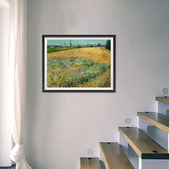 Ezposterprints - Wheatfield | Van Gogh Art Reproduction - 24x18 ambiance display photo sample
