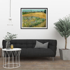 Ezposterprints - Wheatfield | Van Gogh Art Reproduction - 32x24 ambiance display photo sample