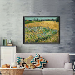 Ezposterprints - Wheatfield | Van Gogh Art Reproduction - 48x36 ambiance display photo sample