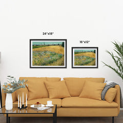 Ezposterprints - Wheatfield | Van Gogh Art Reproduction ambiance display photo sample