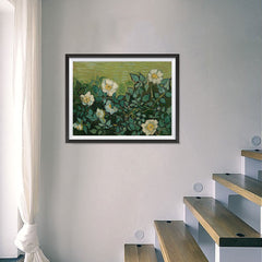 Ezposterprints - Wild Roses | Van Gogh Art Reproduction - 24x18 ambiance display photo sample