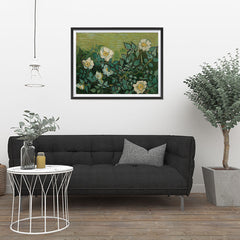 Ezposterprints - Wild Roses | Van Gogh Art Reproduction - 32x24 ambiance display photo sample