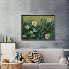 Ezposterprints - Wild Roses | Van Gogh Art Reproduction - 48x36 ambiance display photo sample