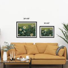 Ezposterprints - Wild Roses | Van Gogh Art Reproduction ambiance display photo sample