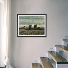 Ezposterprints - Women On The Peat Moor | Van Gogh Art Reproduction - 24x18 ambiance display photo sample